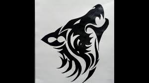 howling wolf drawing tattoo.  Howling How To Draw A Tribal Howling Wolf TATTOO  Easy Method MadMaXx Production  On Drawing Tattoo I