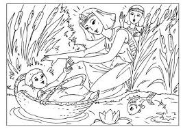 Small Picture coloring page baby moses ren church 539146 Coloring Pages for