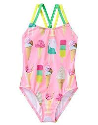Gymboree Shoe Size Chart Inches Gymboree Little Girls 1 Piece Ice Cream Swimsuit