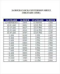 Time Clock Chart Conversion 34 Time Chart Samples Sample Templates Vintage Outdoor Clock