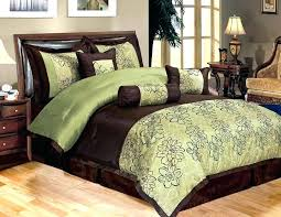 brown green comforter king emerald size park solid pieced 7 piece