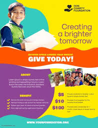 Fundraising Flyer Ideas Charity Donation Fundraising Flyer Poster Template