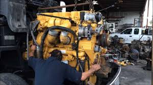 cat c15 engine swap in a peterbilt truck