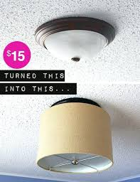 drum light fixtures upgrade a ceiling light with a drum shade for under decorating drum shade