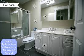 how to update your bathroom on a budget before numbers at the happy housie