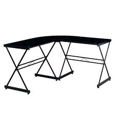 fullsize of traditional black glass computer desk glass desks home office furniture home depot black glass