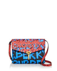 Burberry - Small Macken Graffiti Print Leather Crossbody ...