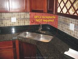 countertop kitchen gfci receptacle an is not required above behind the corner sink