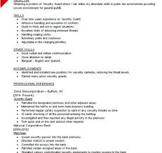 Security Officer Resume Examples Security Resume Sample Security