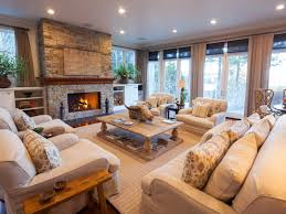 Traditional Living Rooms Inviting Living Room In Lake Tahoe Retreat Linda Mccall Hgtv
