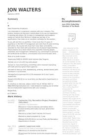 coshocton city recreation project president volunteer resume samples sample volunteer resume