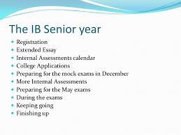 the ib senior year registration extended essay internal  2 the ib senior year registration extended essay