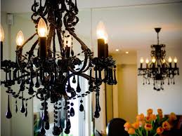 image of contemporary black chandelier crystal