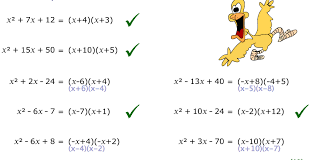 is able to factorise quadratic expressions