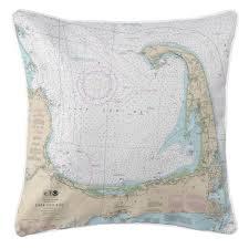 Island Girl Ma Cape Cod Ma Nautical Chart Pillow