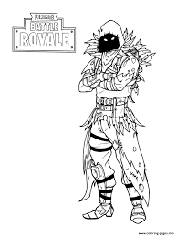 Print Fortnite Nevermore Soldier Coloring Pages フォートナイト
