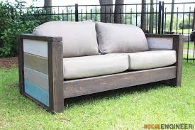 diy outdoor furniture couch. Fine Diy DIY Outdoor Sofa With Cushions And Varied Colors On Arm Rests For Diy Outdoor Furniture Couch T