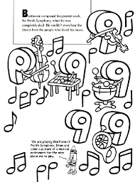 4ce0324148a17d7405d4c59e8a236bc2 beethoven's ninth symphony coloring page educational games on beethoven worksheet