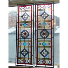 127 stained glass panels for a victorian door