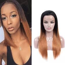 Dressmake Human Hair Wigs T1b30 Ombre Color 130 Density Human Hair