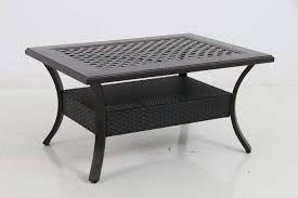 mixed material cast coffee table