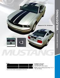 2005 Mustang Color Chart 2005 2009 Dual Racing Stripes For Ford Mustang Wildstang Kit Avery Supreme Or 3m 1080 Wrap Vinyl