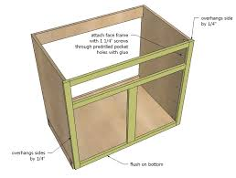 Face Frame Cabinet Plans, kitchen cabinet sink base woodworking ...