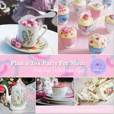 Vintage tea cups and tea pots for an afternoon tea party for Mother's Day