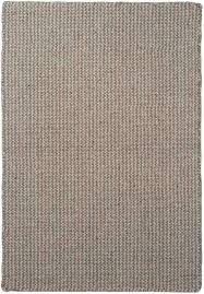 wool silver grey natural loom hooked rug dunelm