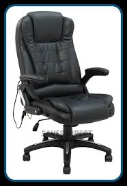 luxury leather computer study reclining office chair with 8 mode massage k8901a