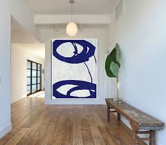 blue and white abstract painting on canvas large abstract art wall art minimalist art on blue and white wall art with blue and white abstract painting on canvas large abstract art wall