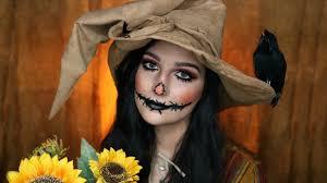 scarecrow makeup. pretty scarecrow makeup tutorial | halloween 2017 madalyn cline k