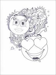 Kleurplaat Emojis Emoticons Emoties 21