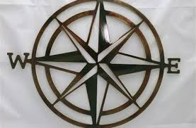 metal wall art brilliant compass rose nautical pertaining to 14  on rose gold wall art ebay with metal wall art popular with colorful birds and trees in 18