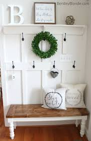 Bench With Storage And Coat Rack Mudroom White Entry Table Entryway Storage Bench With Coat Rack 95