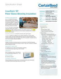Insulsafe Sp Fiber Glass Blowing Insulation