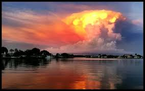 Sunset looking East, just as pretty as looking West. | Sunset, Redington  shores, Clouds