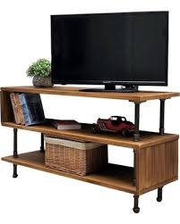 Tucson Modern Industrial TV Stand Rustic BronzeLight Wood Rustic Industrial Tv Stand T65
