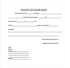 receipt for rent sample rent receipt template 20 download free documents in pdf word