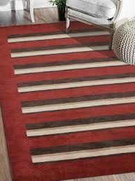 rugsotic carpets hand knotted loom wool contemporary area rug red brown contemporary area rugs by get my rugs llc