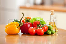 kitchen table with food. Brilliant Food Healthy Food Fresh Vegetables On The Table In Kitchen  Stock Photo  Colourbox To Kitchen Table With Food O