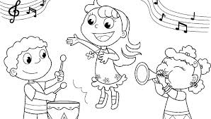 Free Printable Music Colouring Pages Free Music Coloring Pages