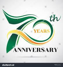 Graphic Design 70 70 Years Anniversary Celebration Logo Design Stock Vector