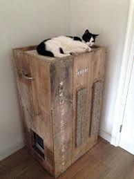 diy cat box cabinet evanandkatelyncom. Cat Tree Litter Box Combo With Hidden Furniture Diy Cabinet Evanandkatelyncom