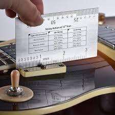 Bass Conversion Chart String Action Ruler Gauge Tool In Mm For Guitar Bass Mandolin Banjo