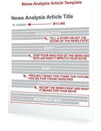 Newspaper Editorial Template Write A News Analysis To Bring New Life Your Articles