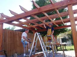 building a pergola patio peoples decorate design with stained the wood varnished create design trellis top unique simple