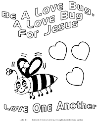 Love+Bug+For+Jesus+ +1John+4 11 children's gems in my treasure box love bug for jesus coloring pages on love bug printable