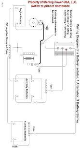 sterling power battery isolator 200 amp 3output 12 Volt Isolator Wiring-Diagram prosplit d 200 amp 3 output marine battery isolator low volt drop split charge