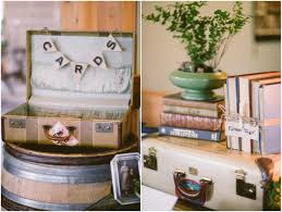 using vintage suitcases in your rustic wedding
